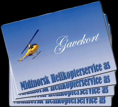 Gavekort på helikoptertur