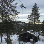 Helikopter hytte flyging trøndelag