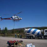 Helikopter til støping hytte